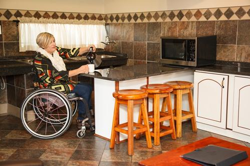 Warmbaths, A Forever Resort: 4 Sleeper Chalet. Wheelchair-friendly. Two bedroom (1 x double & 2 singles)